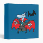 silly vampire and bat cartoon 3 ring binders