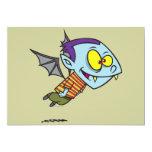 silly vampire bat boy character personalized invitation