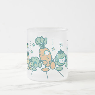 Silly Veggies T-shirts and Gifts Frosted Glass Coffee Mug