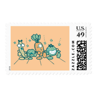Silly Veggies T-shirts and Gifts Postage Stamp