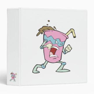 silly villian evil milkshake character vinyl binder