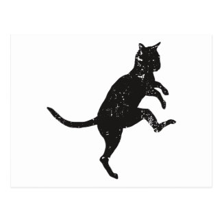 Silly Walking Cat Postcard