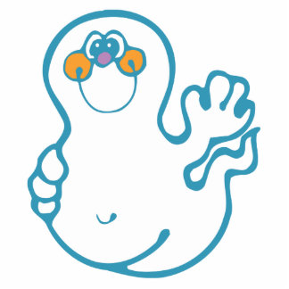 silly waving ghost acrylic cut out