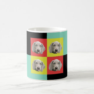 Silly Weimaraner Pop Art Coffee Mug