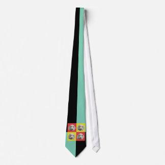 Silly Weimaraner Pop Art Tie
