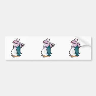 silly winter penguin bumper stickers