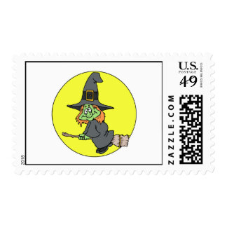 Silly Witch Postage Stamp