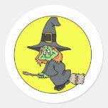 Silly Witch Round Sticker