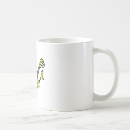 silly witch with eyeball & wand coffee mugs