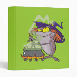 silly witchy witch halloween toad cartoon vinyl binder