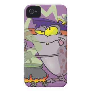 silly witchy witch halloween toad cartoon Case-Mate iPhone 4 cases