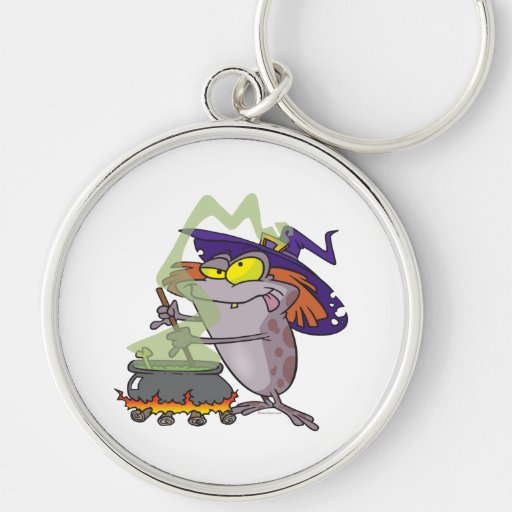 silly witchy witch halloween toad cartoon keychains