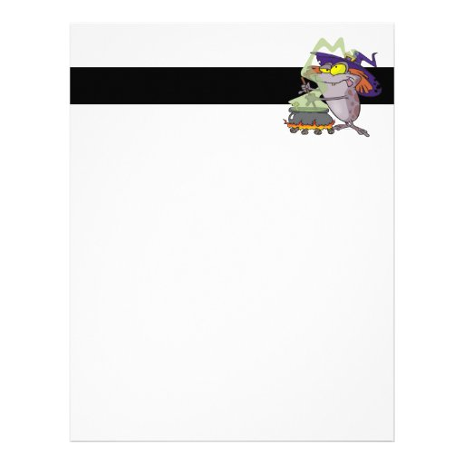 silly witchy witch halloween toad cartoon letterhead