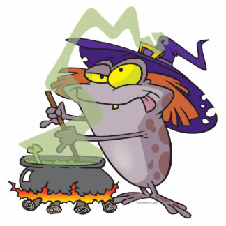 silly witchy witch halloween toad cartoon photo sculpture