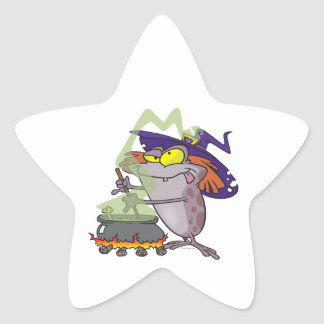silly witchy witch halloween toad cartoon sticker