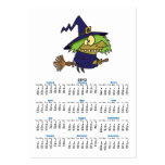 silly witchy witch toad on broomstick business card templates