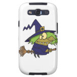 silly witchy witch toad on broomstick galaxy SIII case