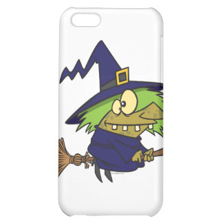 silly witchy witch toad on broomstick iPhone 5C case