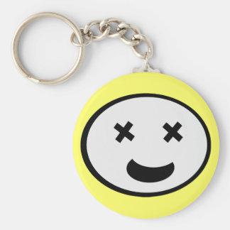 Silly X Eyes Oval Face Keychain
