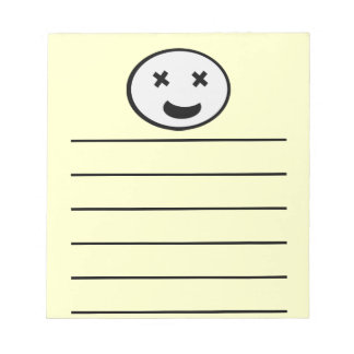Silly X Eyes Oval Face Memo Note Pad