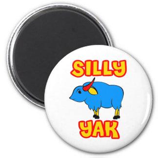 Silly Yak 2 Inch Round Magnet