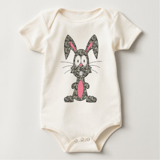 Silly Zebra Bunny Bodysuit