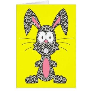 Silly Zebra Bunny Card