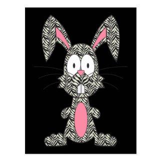 Silly Zebra Bunny Postcard