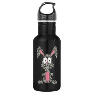 Silly Zebra Bunny Stainless Steel Water Bottle