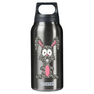 Silly Zebra Bunny Thermos Water Bottle