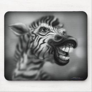 Silly Zebra Portrait Mouse Pads