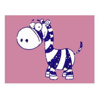 Silly Zebra Postcard