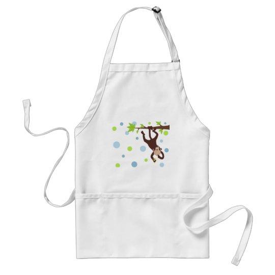 sillymonkeybluedots adult apron