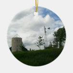Silo and Windmill Ornament