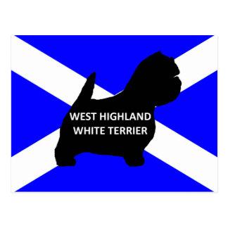 silo del nombre del terrier blanco de montaña del postal