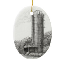 Silo Farming Ornament