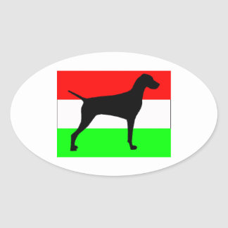 silo Hungary-Flag.jpg del vizsla Pegatina Ovalada