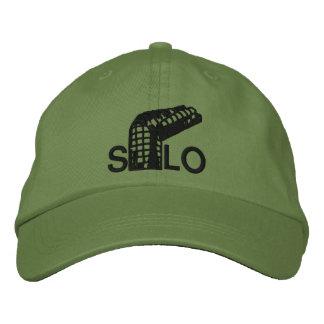 Silo torcido gorra bordada