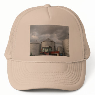 Silos and Tractor Trucker Hat