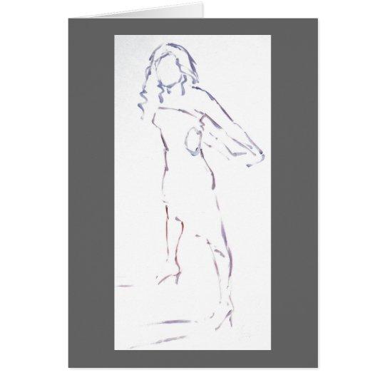 Silouette of a Woman in a dress Card