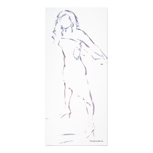 Silouette of a Woman in a dress Custom Rack Cards