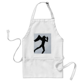Silouette of Angel Adult Apron