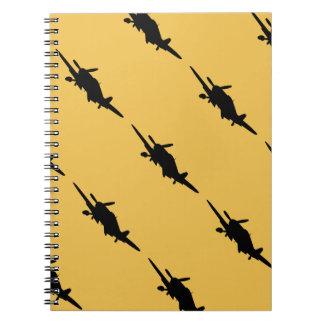 Silouette plano spiral notebooks