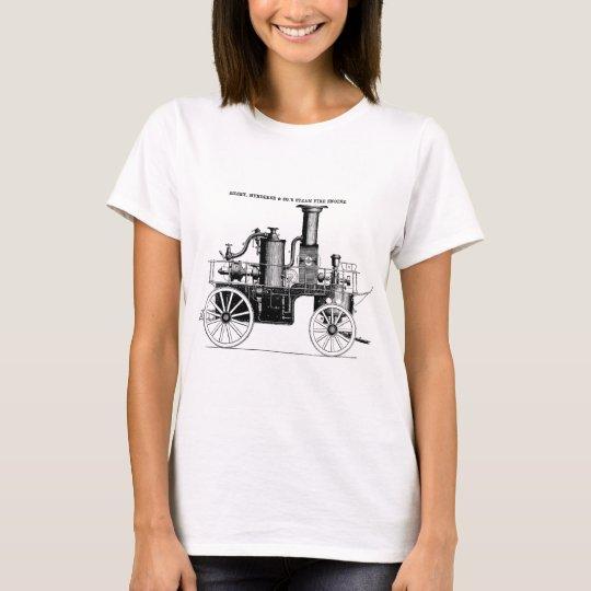 Silsby 1858 Steam Fire Engine T-Shirt