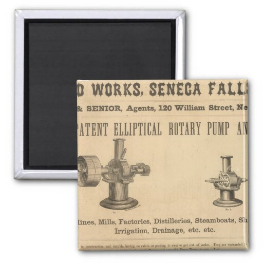 Silsby, Mynderse and Company 2 Inch Square Magnet