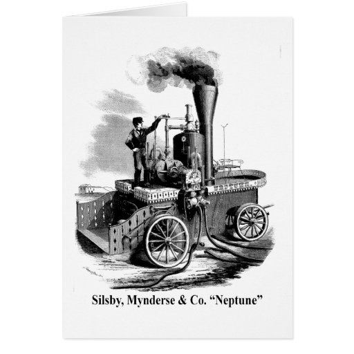 "Silsby Mynderse & Co.  Fire Engine ""Neptune"" Card"
