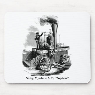 "Silsby Mynderse & Co.  Fire Engine ""Neptune"" Mouse Pad"