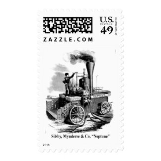 """Silsby Mynderse & Co.  Fire Engine """"Neptune"""" Stamp"""