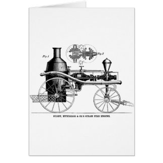 Silsby Rotary Steam Fire Engine Greeting Card