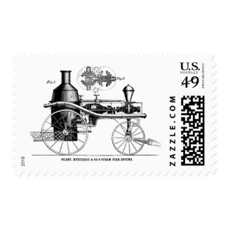 Silsby Rotary Steam Fire Engine Postage Stamp